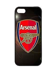 Iphone 5/5s Fundas Case Arsenal Football Club Logo, Creative Team Logo Case Fundas for Iphone 5/5s Schwarz Phone Case Bumper for Women