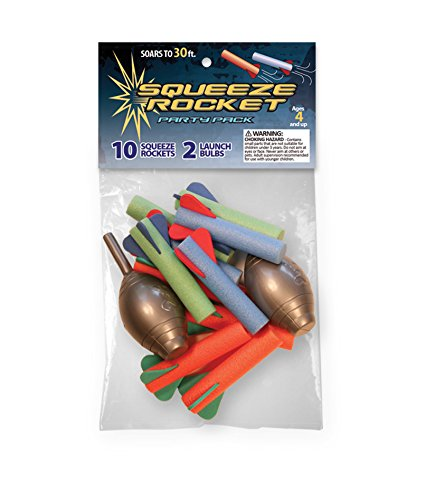 The Original Stomp Rocket Squeeze Rocket Party Pack, 10 Rockets (Blaster Hog)