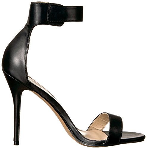 Pleaser Amuse-10, Sandali Con Cinturini Alla Caviglia Da Donna Pu Neri