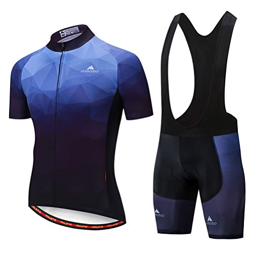 Uriah Men's Cycling Jersey Bib Shorts Sets Short Sleeve Reflective Dark Blue Size XXL(CN) (Best Male Outfits 2019)