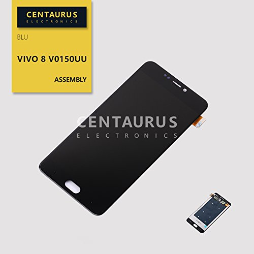 Assembly for BLU Vivo 8 V0150UU V0150LL 5.5 inch LCD Display Touch Screen Digitizer Full Replacement Part (Black)