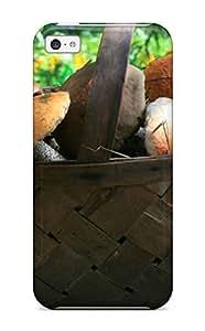 Flexible Tpu Back Case Cover For Iphone 5c - Mushroom