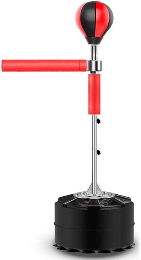 Adulte Et Enfant Taille R/églable Boxe Cible 360/° Swing Arm Boxe Punching Speed Ball Lourd Reflex Permanent Sac De Boxe Int/érieur Grand Stress Fitness Pile De Boxe Couleur : Rouge