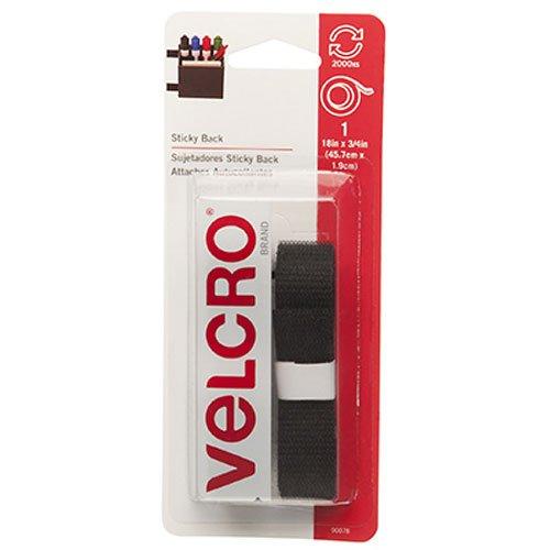 VELCRO Brand Sticky Back Black