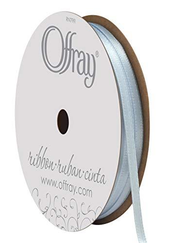 1/8' Double Face Satin Ribbon - Offray Double Face Satin Craft Ribbon, 1/8-Inch x 24-Feet, Light Blue