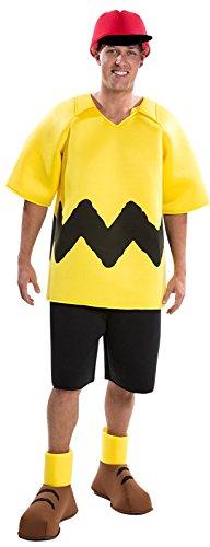 Palamon Men's Peanuts Charlie Brown Costume, Yellow, (Charlie Brown Hat Costume)