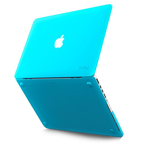 Kuzy Retina 13-inch Silicone Touch Case for MacBook Pro 13.3 with Retina Display A1502 & A1425 Shell Cover Rubber - AQUA BLUE