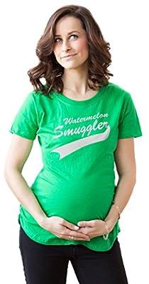 Women's Watermelon Smuggler Maternity Shirt Funny Pregnancy T-shirt