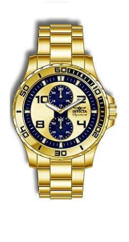 Invicta Lupah Dragon Gold and Blue Dial Gold-plated Mens Watch - Lupah Invicta Dragon