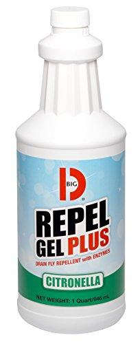 Big D Liquid Deodorant - Big D 515 Repel Gel Plus, Digester Deodorant with Citronella, 1 Quart (Pack of 12)