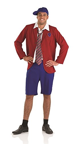 Young Costumes Dc Ac Angus (Schoolboy Krankies Angus Young AC/DC Male Fancy Dress Outfit - M (Chest)