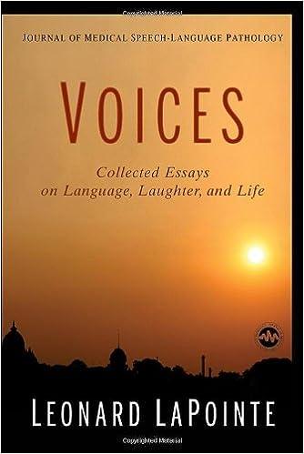 journal of medical speech language pathology voices collected  journal of medical speech language pathology voices collected essays on  language laughter and life st edition