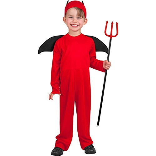 Toddler Little Devil Costumes (Disguise Costumes child's toddler little devil halloween costume (3-4t) Red)