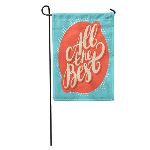 Semtomn Garden Flag Luck All The Best Good Farewell Sign Encourage Encouragement Exam Home Yard House Decor Barnner Outdoor Stand 12x18 Inches Flag (Best Of Luck Greetings For Exams)