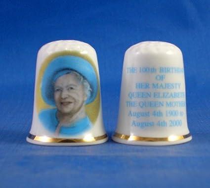 Birchcroft Porcelain China Collectable Thimble Princess Charlotte 4th Birthday Box