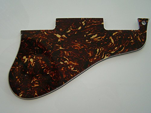 Short ES 335 guitar pickguard 5ply brown tortoise fits gibson ()