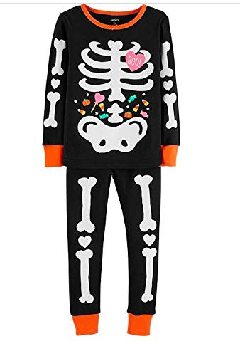 Carters Toddler Girls 2-Piece Glow-in-The-Dark Halloween Snug Fit Cotton PJs