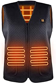 Facio Heated Vest for Men Women, USB Rechargeable Heating Cloth for Outdoor Motorcycle