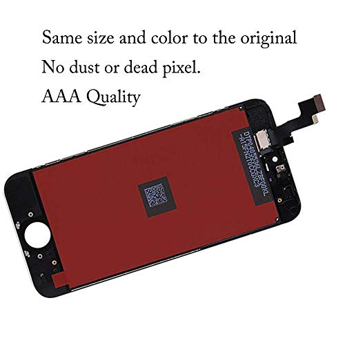 for iPhone SE LCD Display Touch Screen Digitizer Replacement with Repair Kit + Tempered Glass (Black) by QIANZEY666 (Image #4)