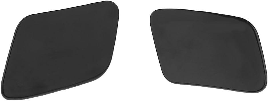 1 Pair Unpainted Headlight Washer Cover Cap for Audi A4 Quattro B7 2005-2008 High Performance
