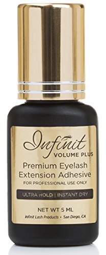 Infinit VOLUME PLUS Eyelash Extension Glue, Black - Advanced Strong Bond Professional Grade Adhesive for Individual Lashes - Last 7-8 Weeks - Instant Dry 1-2 Seconds - Safe & Latex Free