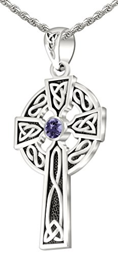 (US Jewels And Gems Men's 0.925 Sterling Silver Simulated Alexandrite 1.5