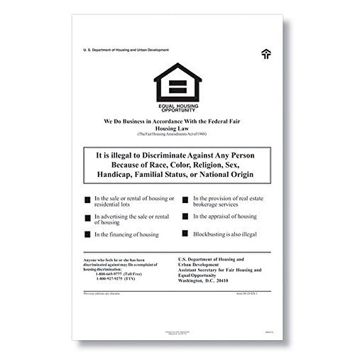 ComplyRight E8112 Fed Fair Housing Poster by ComplyRight