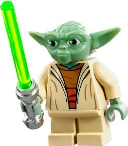 LEGO Star Wars Clone Wars Minifigure - Yoda with Lightsaber