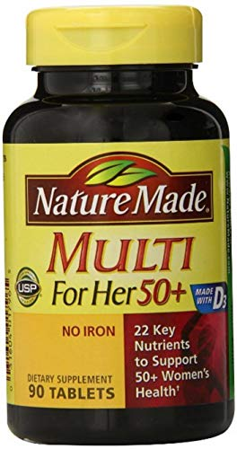 Nature Made Multi for Her 50 Vitamin Mineral Tablets 90 ea Pack of 4