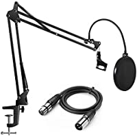 InnoGear Heavy Duty Microphone Stand with Upgraded 6.6...