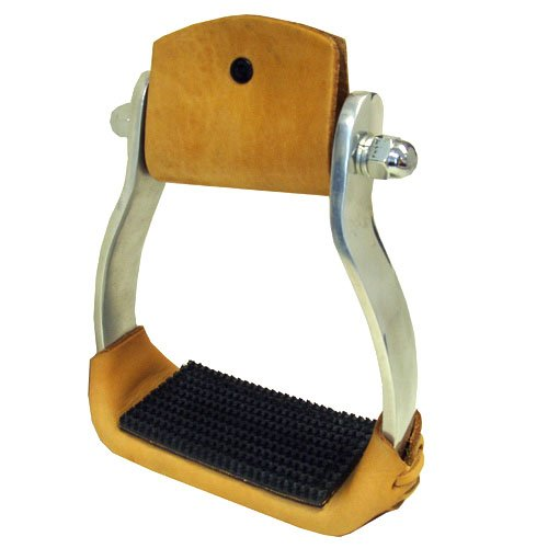 Intrepid International Aluminum Western Stirrups with Rubber Tread