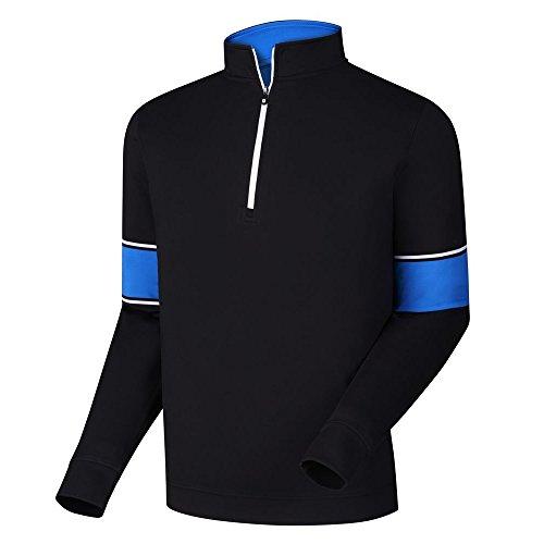 (FootJoy Ribbed Jacquard Half-Zip Vest (Black/Marine/White, X-Large))