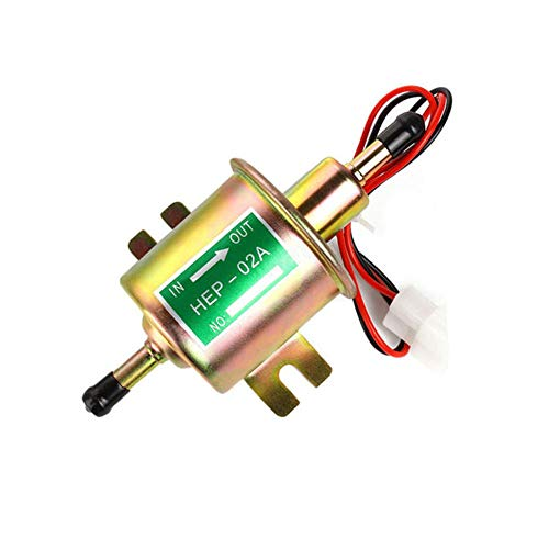 Electric Fuel Pump 2.5-4 PSI Universal Fuel Pump 5/16 inch Inlet and Outlet 12v Fuel Pump for Carburetor Engine HEP-02A
