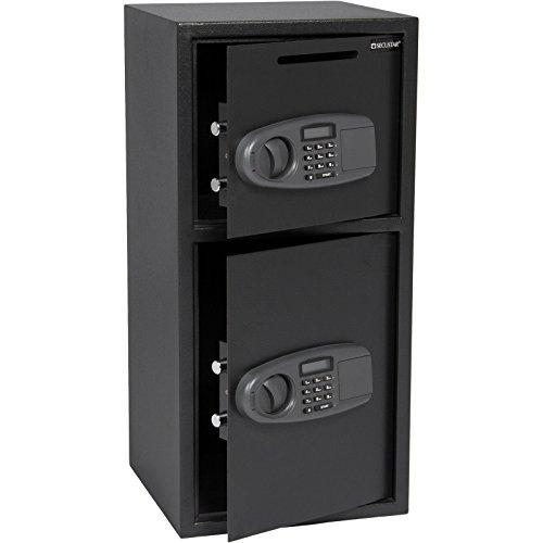 Eight24hours Large Double Door Digital Deposit Safe Cash Jewelry Gun Drop Security Lock Box - R5