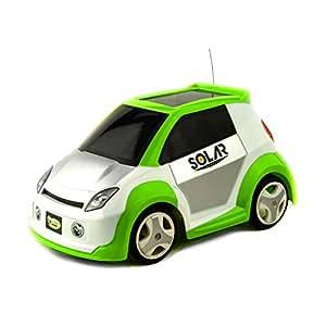 Kid Racers - Solar Car RC, coche ecológico, color blanco y verde (Ninco NT10001)