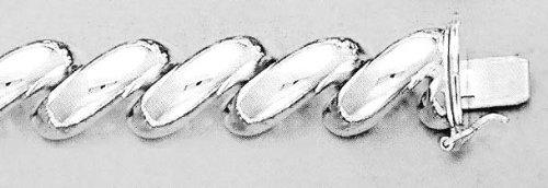 Argent Sterling 8 pouces X 13,0 mm San Marco-JewelryWeb Bracelet