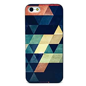 iPhone 5 Case, iPhone 5s Case - Sunshine Case Fashion Style Colorful Painted Colorful rhombus Clear Bumper Hard Case Back Cover Protector Skin For Iphone 5 5s (Colorful rhombus)