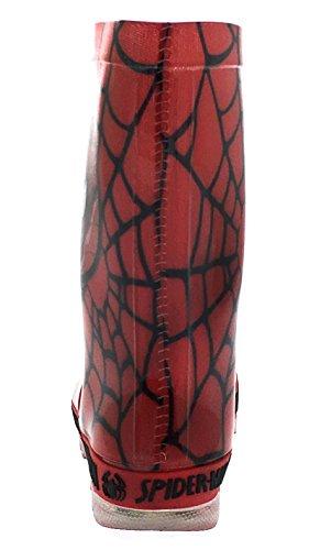 Black Red Web Bottes Pointure Garçon 24 Spiderman En Marvel Pour Caoutchouc 8pqzqAw