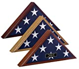 Cheap SpartaCraft Veteran Flag Display Case -Cherry