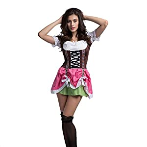German Beer Oktoberfest Maiden Waitress Wench Halloween Fancy Dress Costume