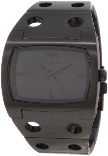 Vestal Men's DES3M02 Destroyer Brushed Black with Black Dial Watch