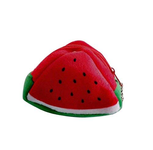 Linda Cartera de Felpa Forma de Fruta, Holacha Monodero Navidad Regalo para Mujeres Chicas C