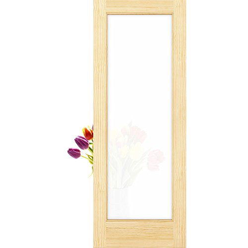 1-Lite Frosted Privacy Glass French Door Unfinished, 36