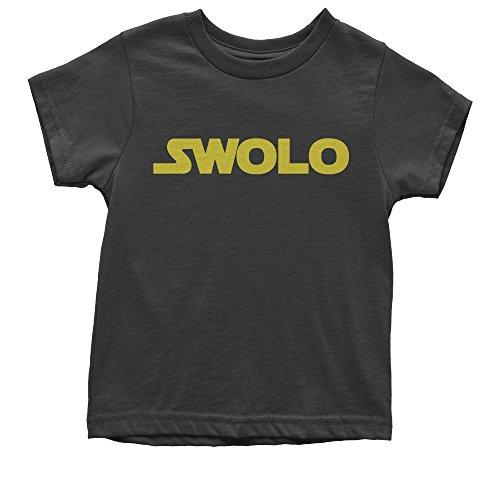 Youth Ben Swolo Star Warship Funny Parody T-Shirt Small Black