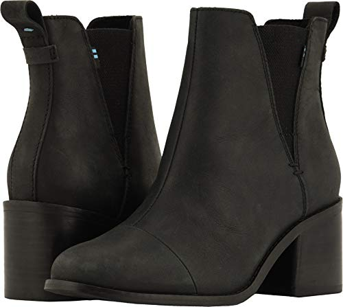 TOMS Women's Esme Boot Black Leather 9 M