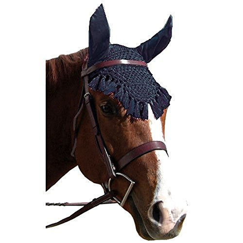 Intrepid International Fancy Crochet Fly Veil with Noise Reducing Ears, Royal Blue by Intrepid International
