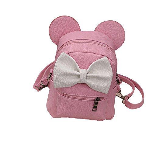 Liraly Travel Backpack,Clearance Sale! 2018 Fashion New Mickey Backpack Female Mini Bag Women's Backpack (Pink)
