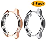 EZCO Compatible Samsung Galaxy Watch 42mm Case (2-Pack), Soft TPU Plated Case Protector Bumper Shell Compatible Samsung Galaxy Smart Watch