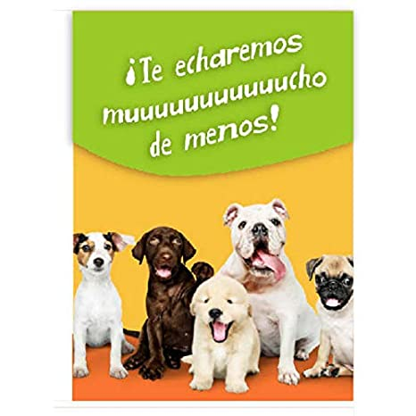 TARJETA Despedida Perros 20x30