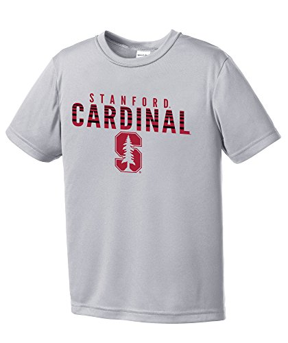 NCAA Stanford Cardinal Youth Digital Camo Short Sleeve Polyester Competitor T-Shirt, X-Large,Silver ()